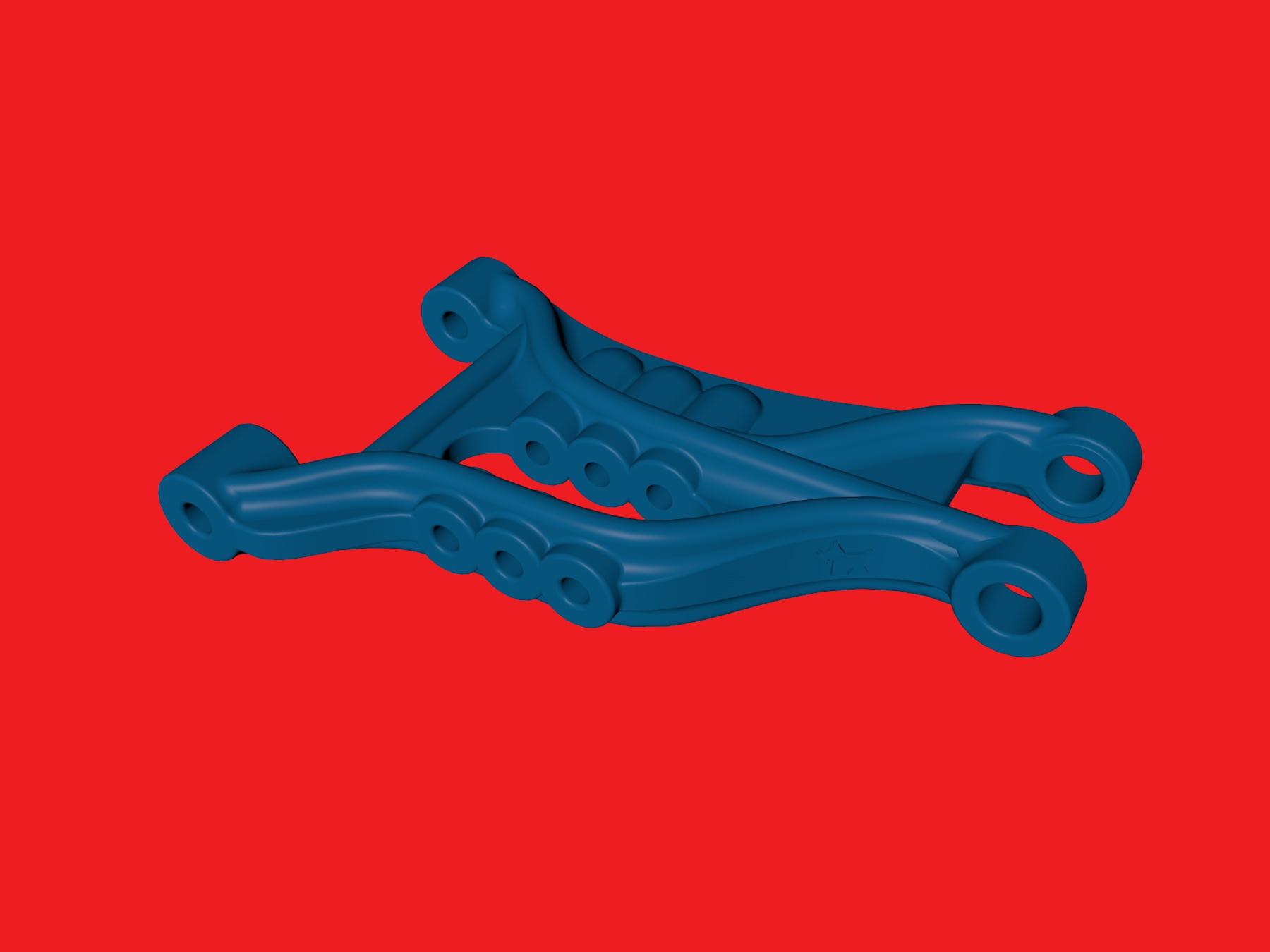 tamiya wrenchdog dyna storm b2 front suspension arm