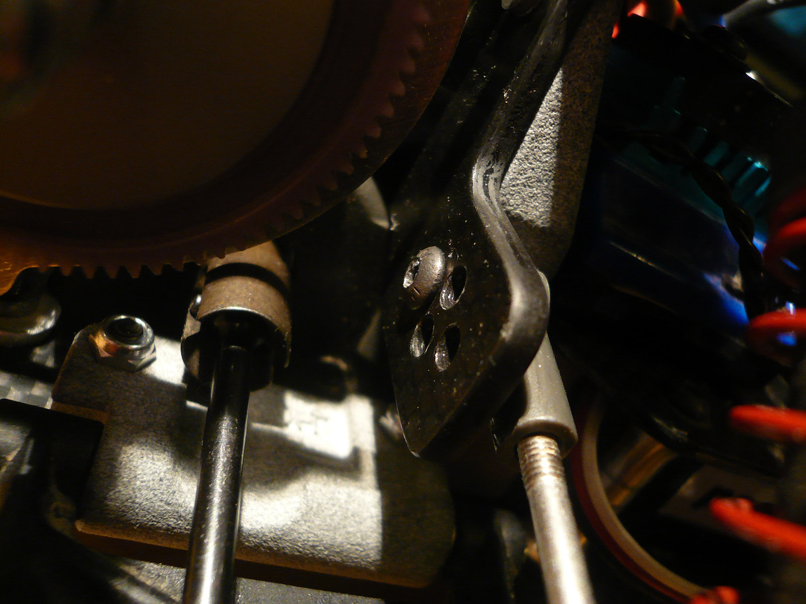 tamiya wrenchdog dyna storm dyna blaster custom rear damper stay