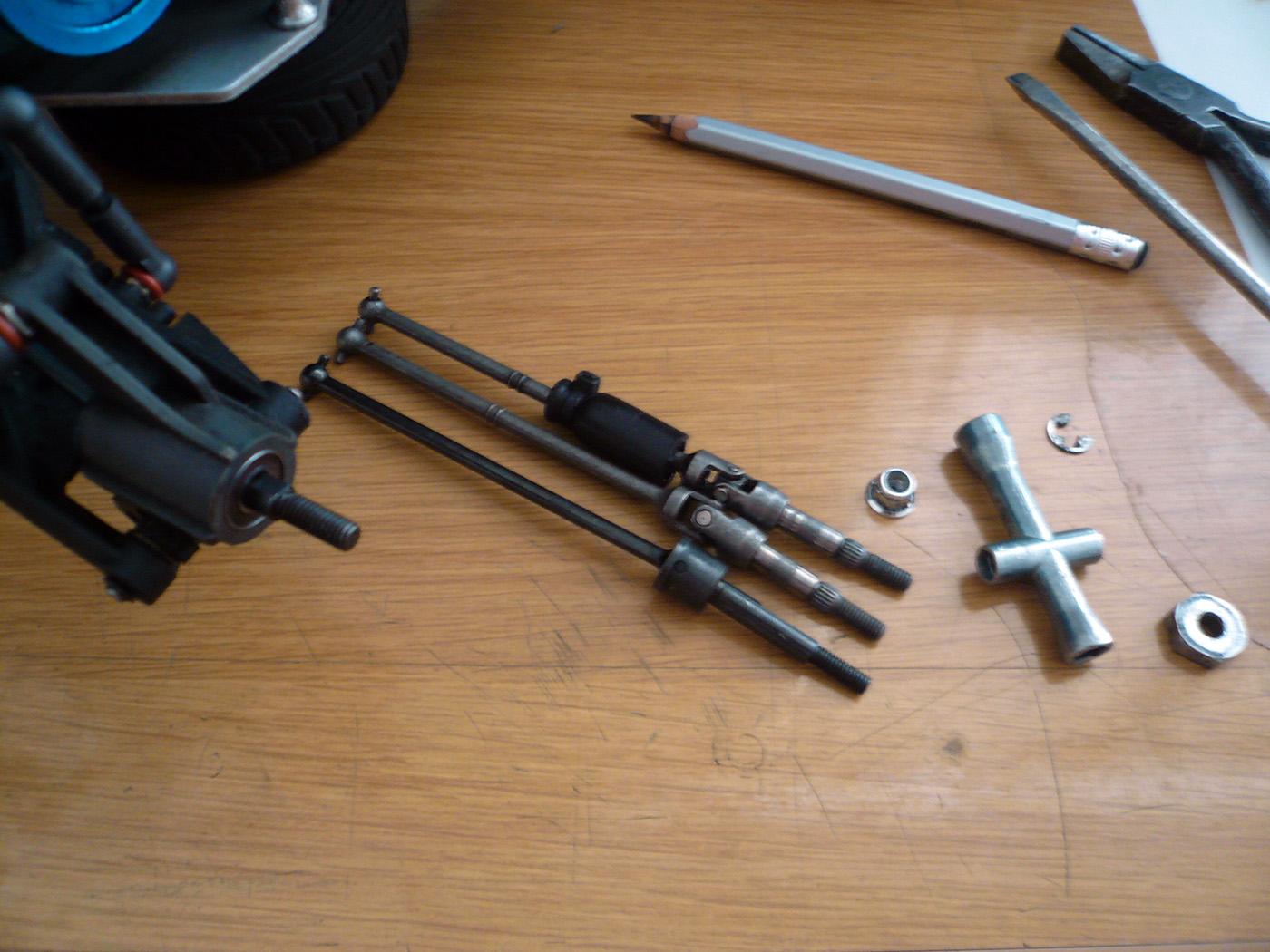 tamiya tr-15t dyna blaster wrenchdog cvd universal shaft